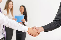 Successful handshake of two businessmen Royalty Free Stock Photos