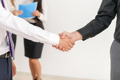 Successful handshake of two businessmen Royalty Free Stock Image
