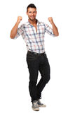 Successful handsome man isolated on white Royalty Free Stock Photography