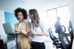 Successful business group of people at work in office royalty free stock images