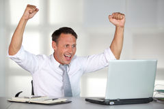 Successful and happy businessman Royalty Free Stock Photos