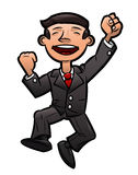 Successful happy businessman jumping Royalty Free Stock Photo