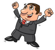 Successful happy businessman jumping 2 Royalty Free Stock Photography