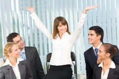 Successful happy businesswoman Royalty Free Stock Image