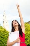 Successful happy female student Royalty Free Stock Image