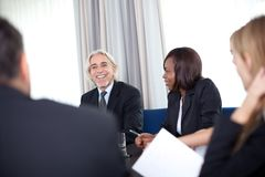 Successful happy mature manager Stock Photography