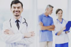 Successful Happy Professional Doctor in Clinic. Stock Photography