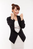 Successful happy smiling business woman. Stock Photo
