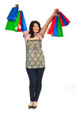 Successful happy woman at shopping Royalty Free Stock Images