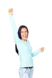 Successful Happy Young Girl Royalty Free Stock Photos