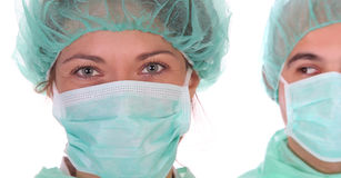 Successful healthcare workers. Details successful healthcare workers in close up Stock Photography
