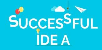 Successful Idea Conceptual Flat Web Banner Stock Photography