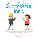 Successful Idea Web Banner. Business Solution. Stock Images