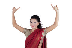 Successful Indian woman on studio Royalty Free Stock Image