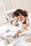 Successful interior designer woman at office  Stock Image