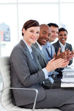 Successful international business people clapping Royalty Free Stock Photos