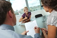 Successful job interview Stock Photography