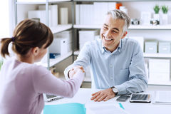Successful job interview Royalty Free Stock Photography