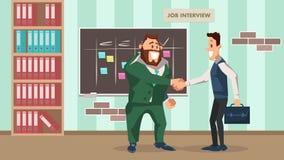 Successful Job Interview. Office Worker Handshake royalty free illustration