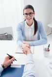 Successful job interview Royalty Free Stock Images