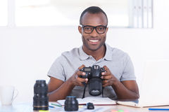 Successful journalist. Royalty Free Stock Photography