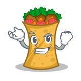 Successful kebab wrap character cartoon. Vector illustration royalty free illustration
