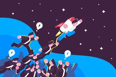 Successful launch of startup royalty free illustration