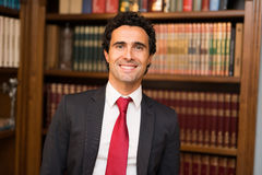 Successful lawyer in his studio Stock Photography