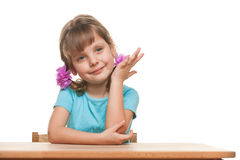 Successful little girl Stock Photos