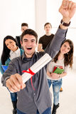 Successful Male Student Stock Image