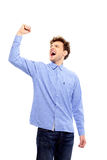 Successful man with arm up Royalty Free Stock Images