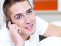 Successful man call by phone Royalty Free Stock Photo