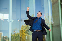 Successful man celebrating Stock Photography