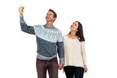 Successful man with girlfriend Royalty Free Stock Photo