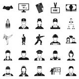 Successful man icons set, simple style Stock Image