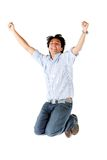 Successful man jumping Stock Images