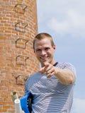 Successful man pointing Stock Photos