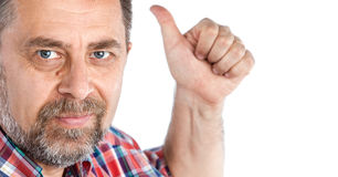 Successful man shows ok sigh Royalty Free Stock Images
