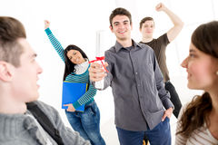 Successful Man Student Royalty Free Stock Photos