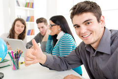 Successful Man Students Learning Stock Photos