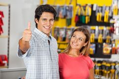 Successful Man With Woman In Hardware Store Stock Photo