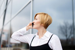 Successful manager call outdoor Royalty Free Stock Photography