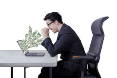 Successful manager get money dollars Royalty Free Stock Photos