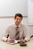 Successful manager in the office. Royalty Free Stock Photo