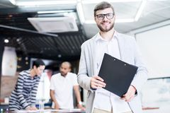 Successful manager at office stock photos