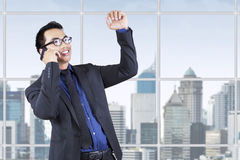 Successful manager on a telephone call Stock Photo