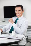 Successful manager working Stock Image