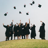Successful Masters PHD Graduation College Concept royalty free stock images