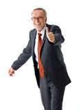 Successful mature business man, thumb up Stock Photography