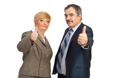 Successful mature  business people team Stock Photos